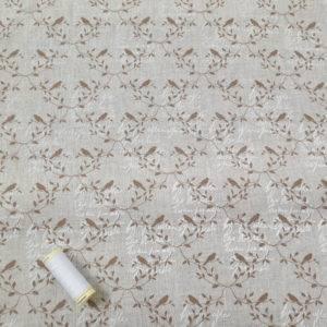 Beige & Natural Bird Linen